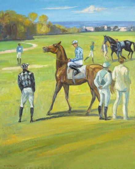 À Chantilly - 92 x 60 cm - collection particulière