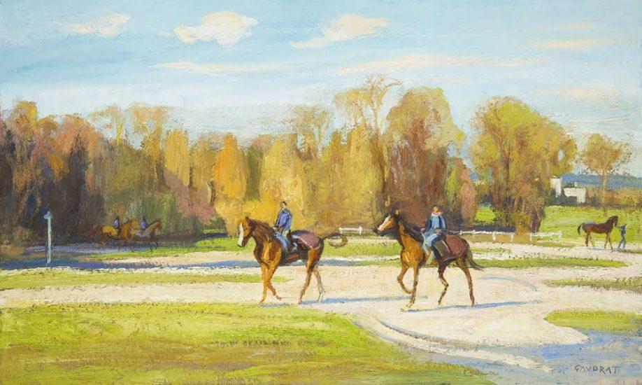 Aux Aigles, à Chantilly - 30 x 50 cm - collection particulière