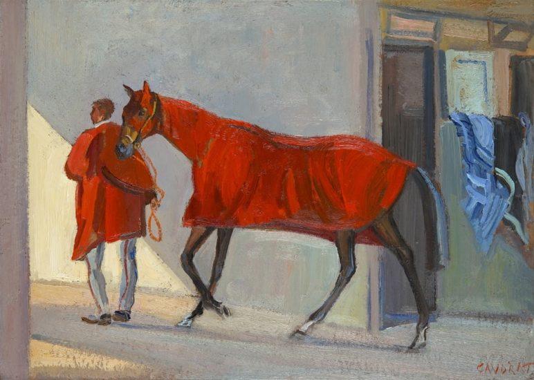 À Vincennes, l'hiver - 31 x 43 cm - collection particulière