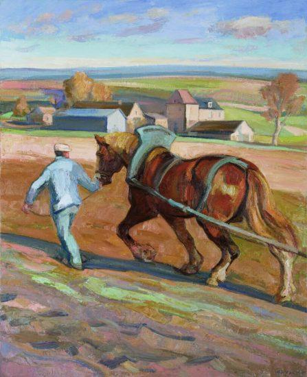Février, le Labour - 100 x 81 cm