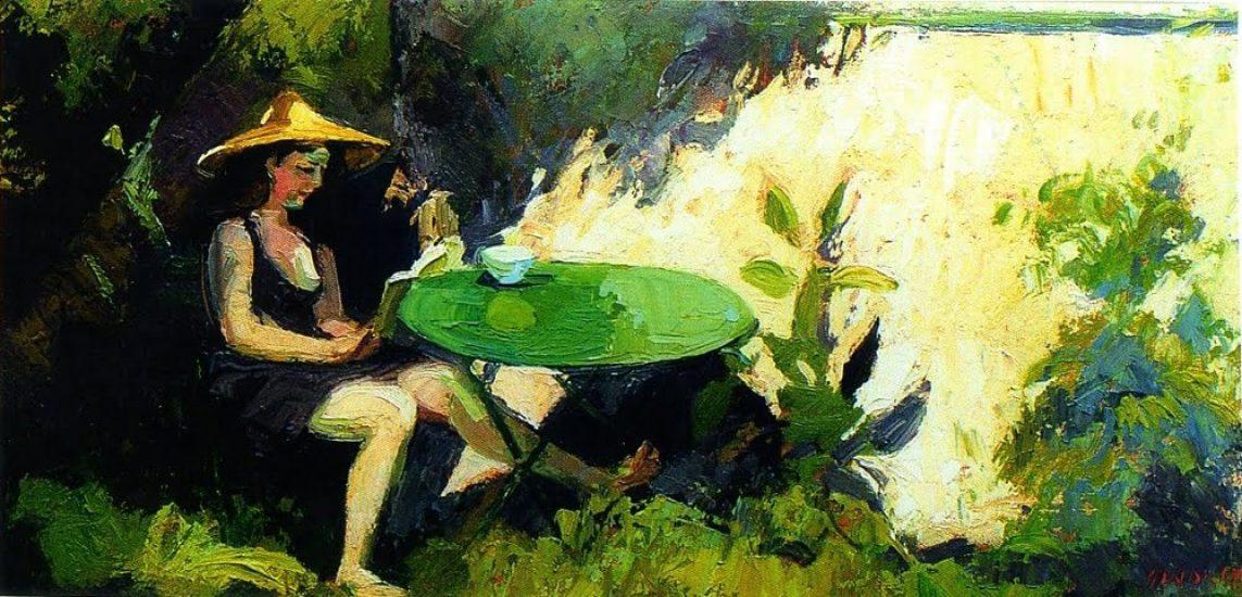 Premier soleil - Esquisse - 38 x 46 cm