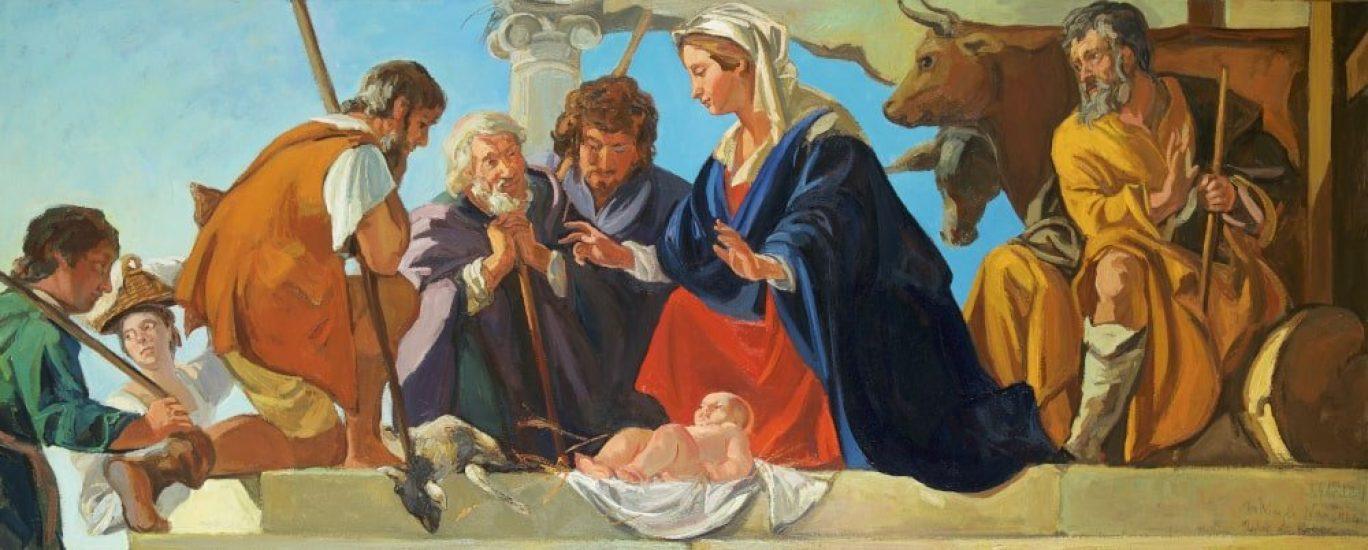 D'après Mathieu Le Nain - L'Adoration des Bergers (huile sur toile) - 68 x 174 cm