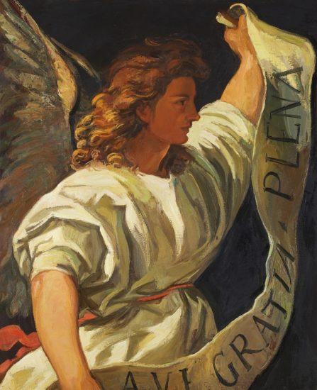 D'après Titien - L'annonciation (huile sur toile) - 100 x 82 cm - collection particulière