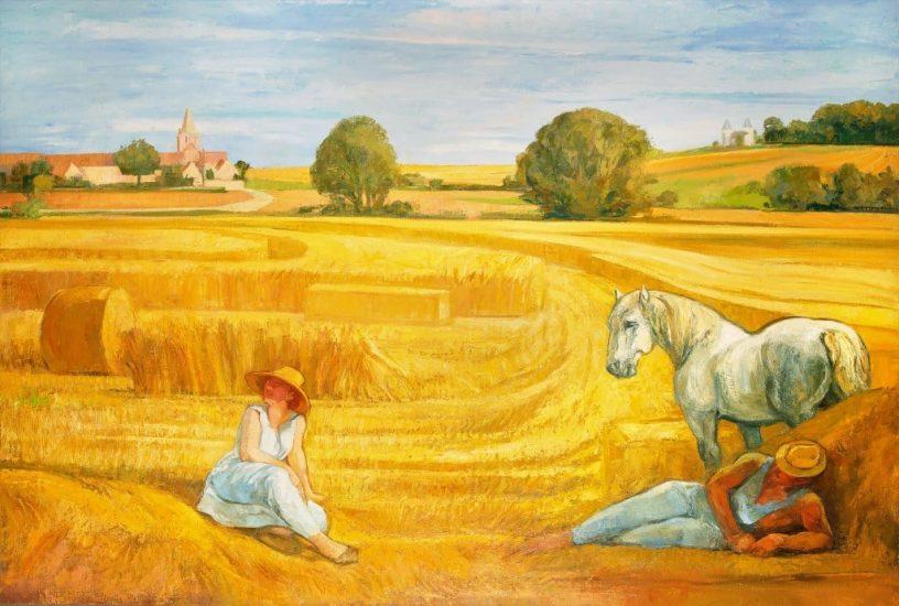 La moisson (Huile sur toile) - 140 x 210 cm