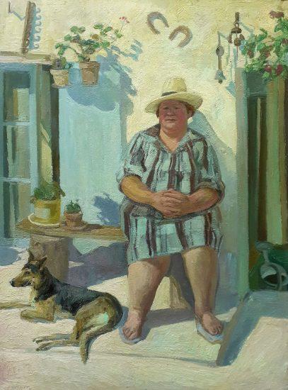 Madame Monnier (Huile sur toile) - 130 x 97 cm