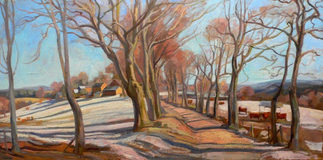 Le chemin de Malagnoux, février 2006 - 60 x 120 cm - collection particulière