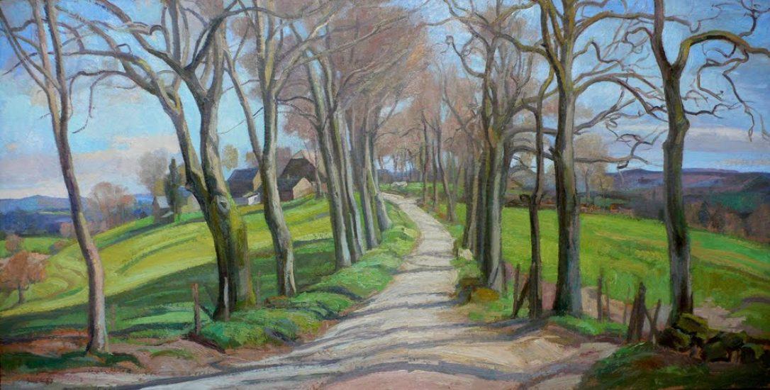 Le chemin de Malagnoux - 60 x 120 cm