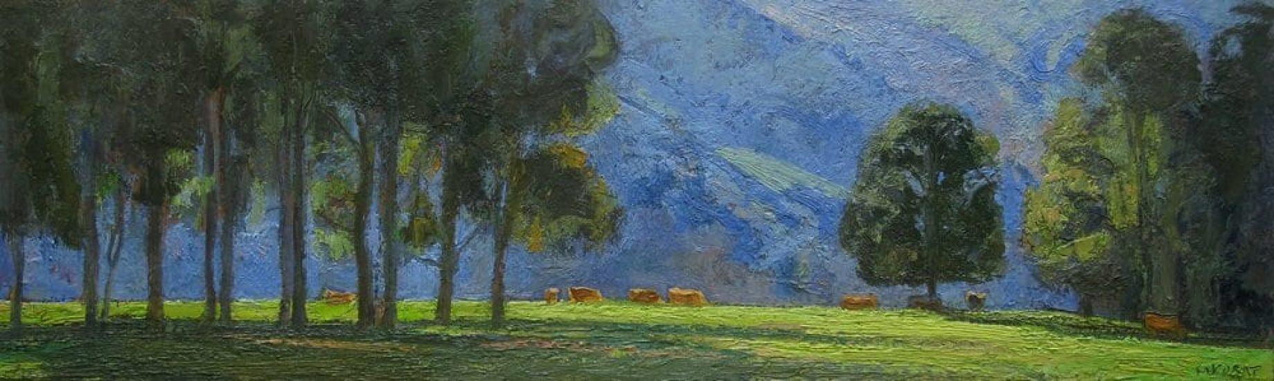 Matin à la Grande Chartreuse - 15 x 50 cm - collection particulière