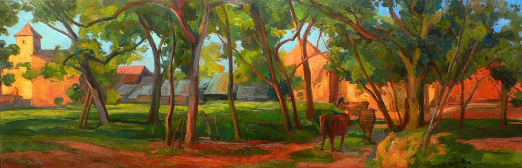 Le Retour des champs, Segonzac en Dordogne - 50 x 150 cm