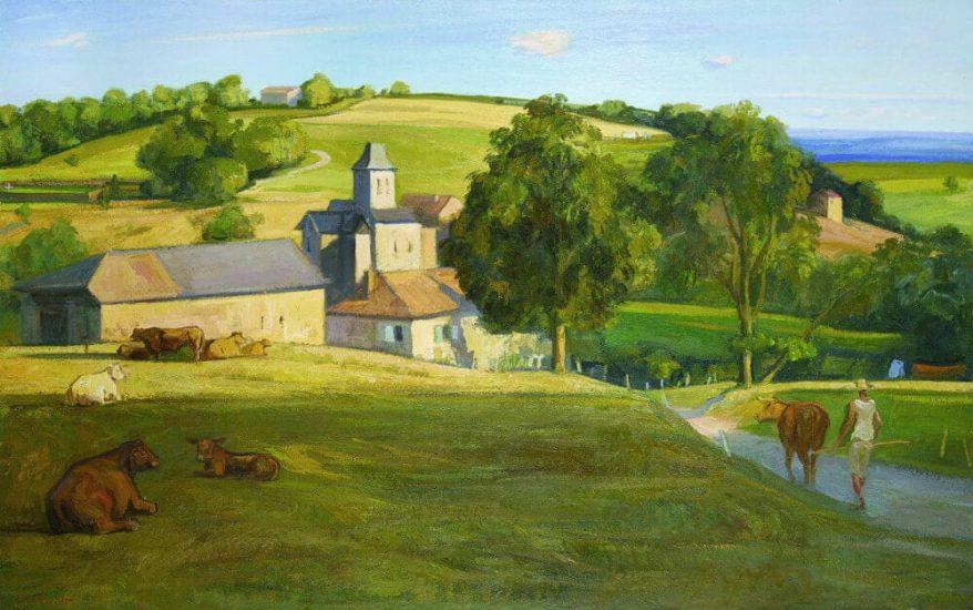L'été au village - 89 x 130 cm
