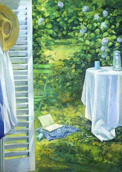 La porte de l'atelier (huile sur toile) - 162 x 114 cm