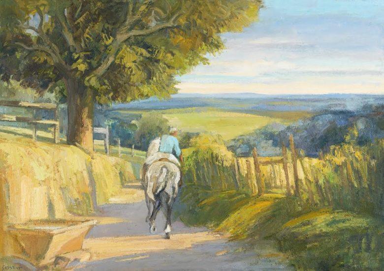 La promenade du soir - 65 x 92 cm - collection particulière