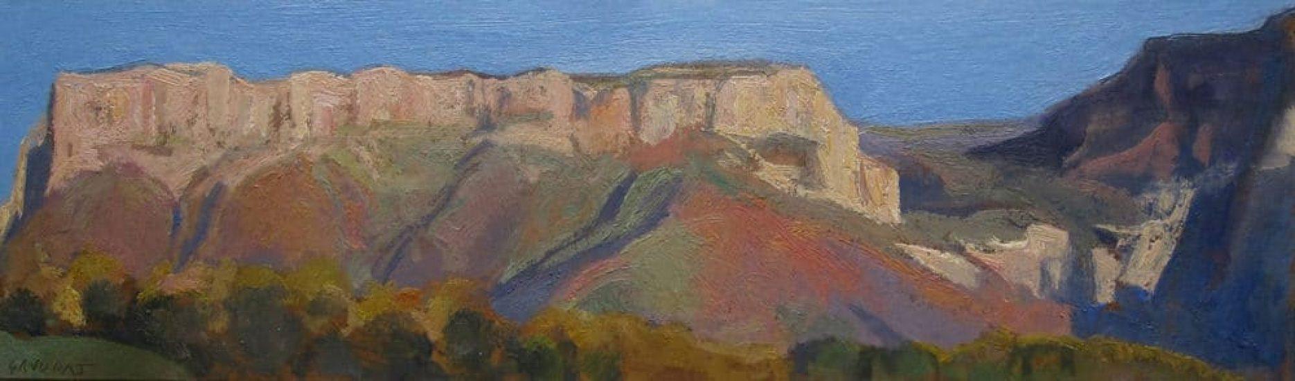 Le Granier, le soir - 15 x 50 cm