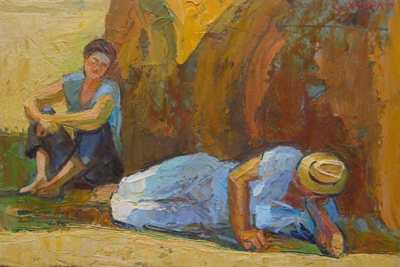 La moisson - 16 x 26 cm - collection particulière
