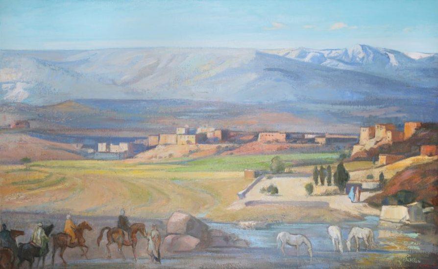Le Haut Atlas (huile sur toile) - 97 x 146 cm