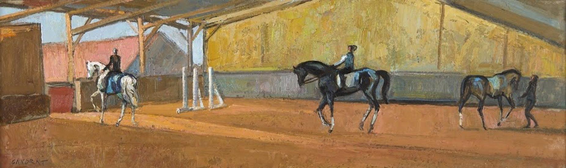 Le Manège à Chailly - 15 x 50 cm