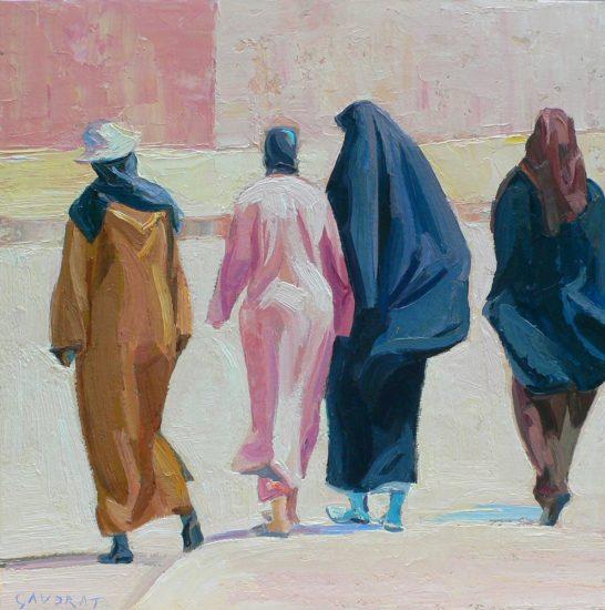 Le matin des femmes - 30 x 30 cm - collection particulière