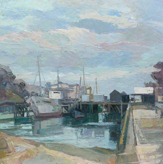 Le Port Rhu à Douarnenez - 50 x 50 cm - collection particulière