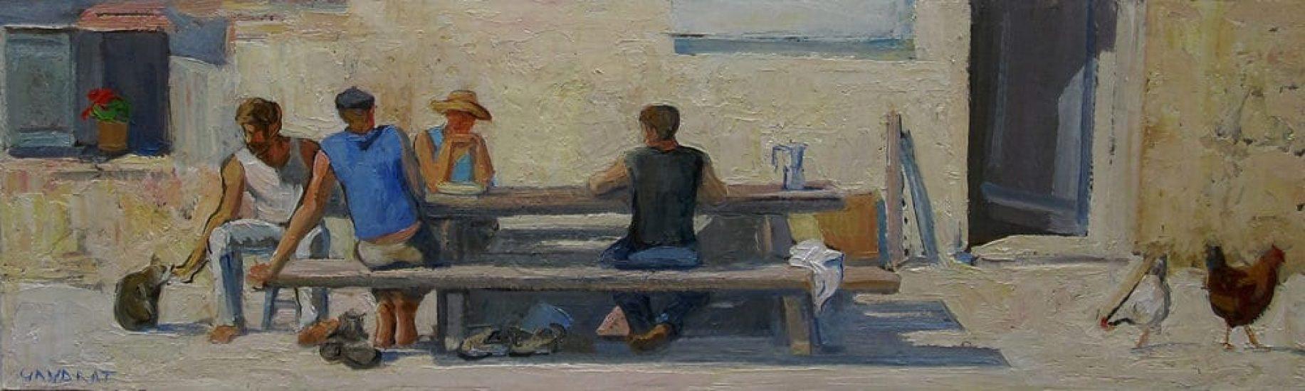 La table à l'auberge - 15 x 50 cm - collection particulière