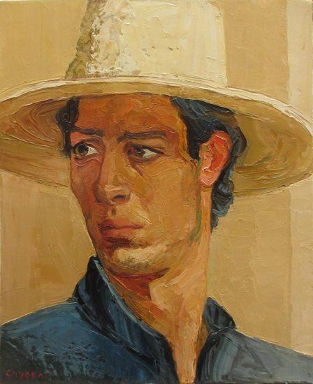 Jeune homme au soleil - 41 x 33 cm - collection particulière